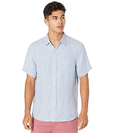 Faherty Short Sleeve Linen Laguna Shirt