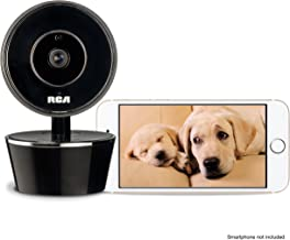 RCA Pet Camera for Dog & Cat Parents - WiFi Pet Security Camera with HD Video, 2 Way Audio, Night Vision, Motion & Sound Alerts & Phone App to Monitor & Talk to Your Pets, White, Small