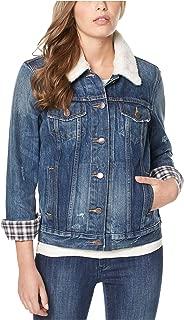 Womens Nova Spring Faux Fur Trim Denim Jacket