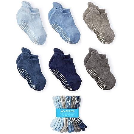 DEBAIJIA 6 Paar Anti Rutsch Babysocken Baumwolle Rutschfest Stretch Socken f/ür 0-5 Jahre alt Jungen M/ädchen Confortable Weich Bequem Socken f/ür den Fr/ühling Sommer