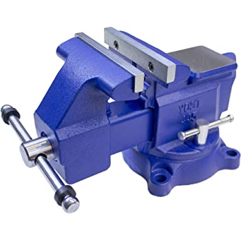 "Yost Tools Vises 445 4.5"" Heavy-Duty Utility Combination Pipe and Bench Vise, Blue"