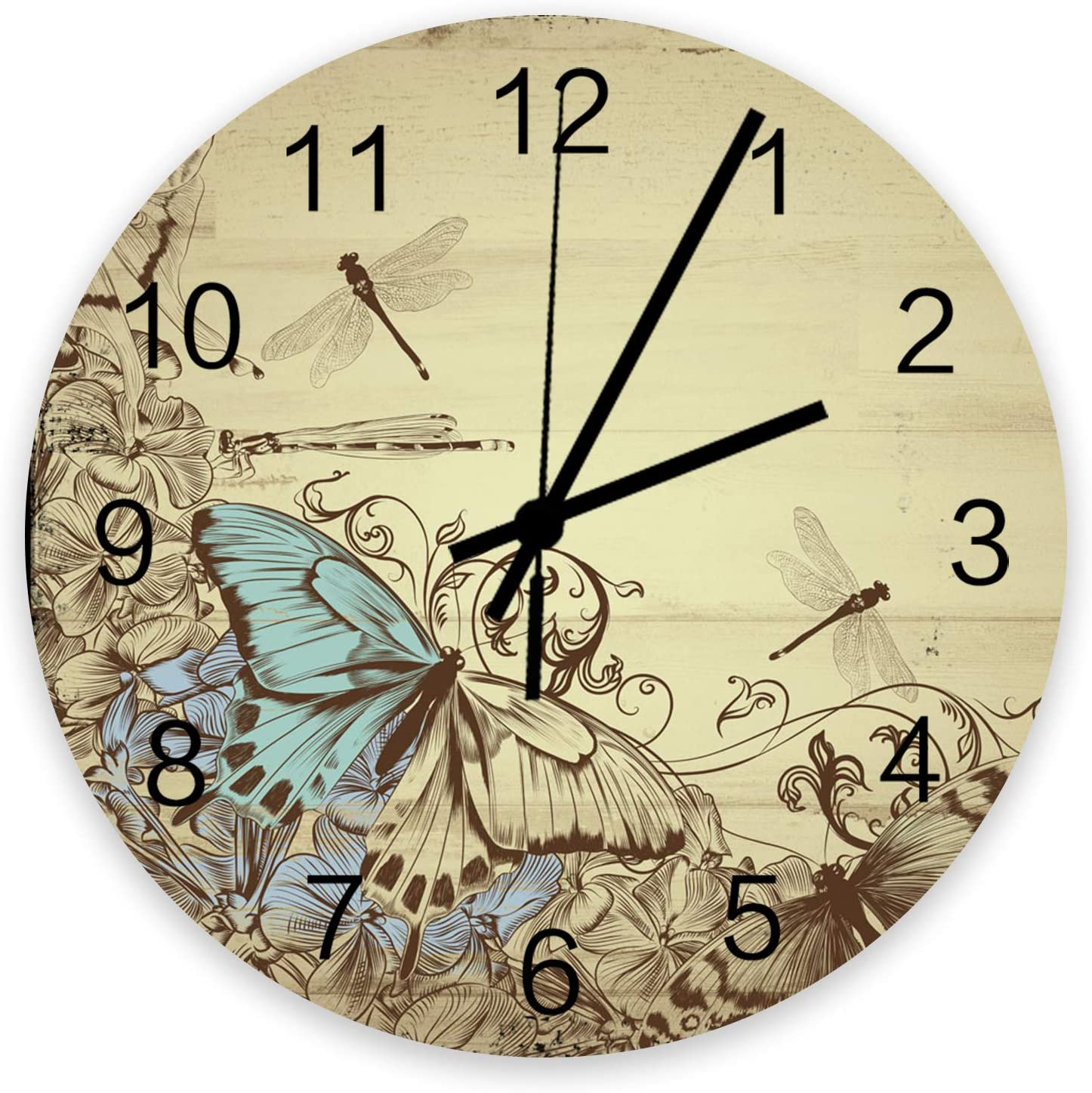 Wooden Wall Clock Abstract Ranking TOP13 Butterfly Rustic Wood Dragonfly Japan Maker New Line