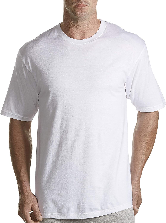 Harbor Bay by DXL Big and Tall 5-pk Crewneck T-Shirts, White