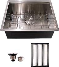 HFS (R) 23X19X10IN Undermount 16 Gauge Tight Radius Stainless Steel Kitchen Sink Single Bowl