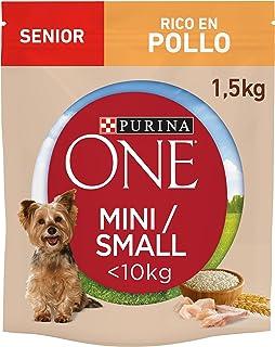 Purina One Mini hondenvoeding senior kip en rijst, 8 x 800 g