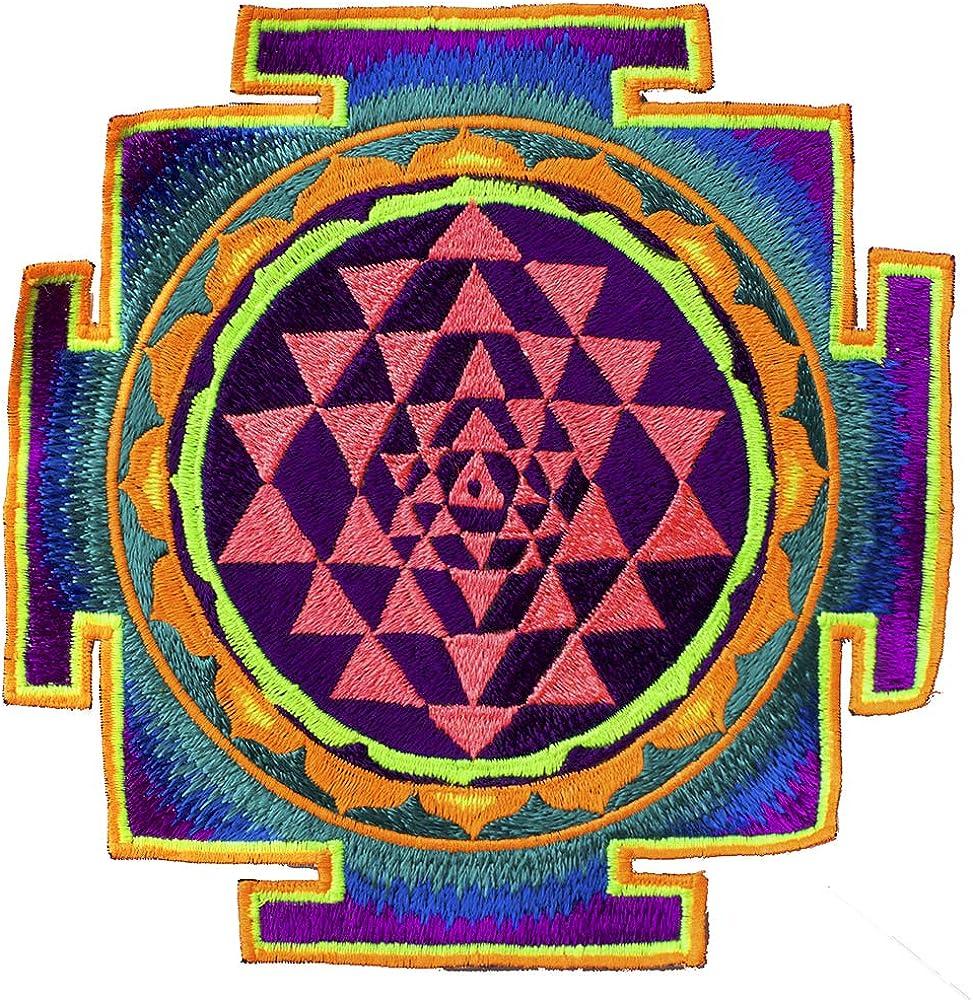 ImZauberwald Shri Yantra ~7 inch Max 71% OFF Year-end gift geometry glowing sacred AUM UV