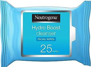 مناديل مبللة لتنظيف الوجه هيدرو بوست من نيوتروجينا - ٢٥ منديل