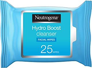 Neutrogena, Makeup Remover Wipes, Hydro Boost Cleansing, Face, Pack of 25 wipes