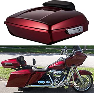 XMT-Moto Vivid Black King Tour Pack Luggage Kit fits for Harley Davidson Touring Road King Street Glide and Select CVO Models 2014-later Road Glide
