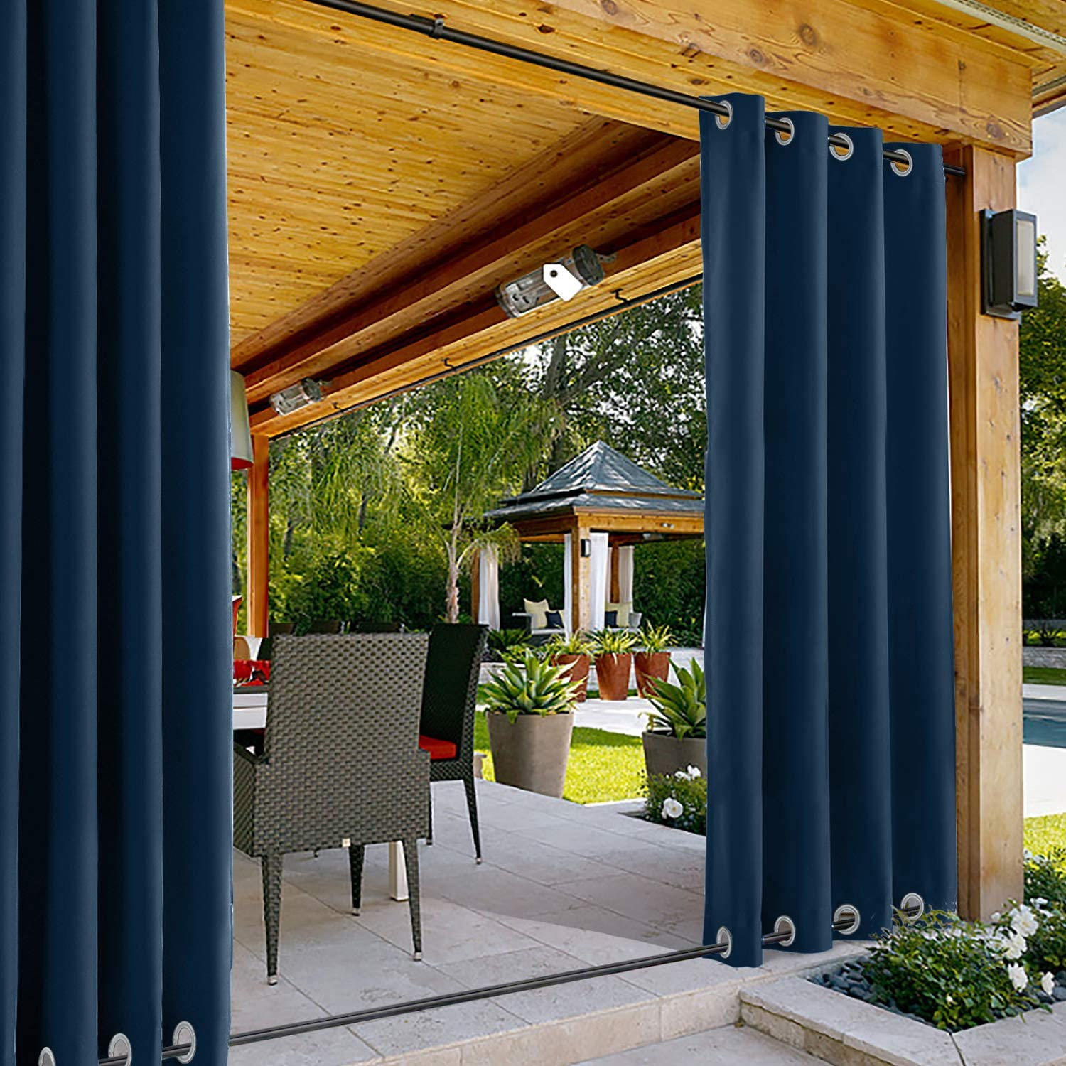ChadMade Windproof Outdoor Curtain Both Bottom and Top Aluminum Award In stock