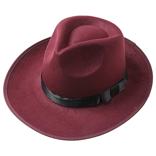 9de1809076404 BABEYOND 1920s Gatsby Panama Fedora Hat Cap for Men Gatsby Hat for Men  1920s Mens Gatsby