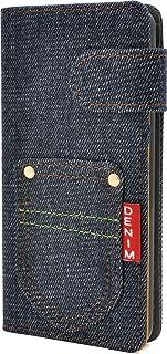 PLATA isai Beat LGV34 / V20 PRO L-01J ケース 手帳型 イサイ ビート ポケット デニム デザイン スタンド ケース ポーチ 手帳 カバー ジーンズ ALGV34-63A-A