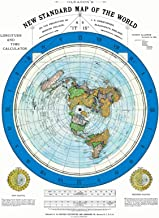 Riley Creative Solutions 1892 Flat Earth Map - Alexander Gleason's New Standard Map of The World 24 x 36 Large Wall Art Poster Gleason (Blue Ring)