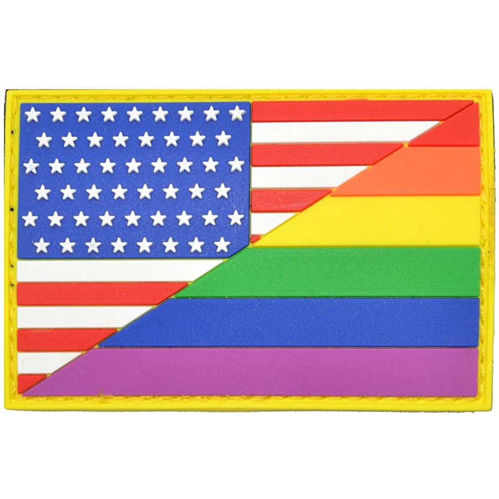 USA Flag/Pride Flag - 2x3 inch PVC Patch
