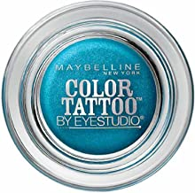 Maybelline EyeStudio Color Tattoo 24Hr Eyeshadow, Tenacious Teal [40] 0.14 oz