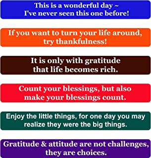 Optimism Quotes Fridge Magnets- Inspirational Words and Motivational Quotes Magnet Set -The Perfect Gift to Inspire Friends, Family, and Co-Workers, Set of 6 Individual Quote Magnets by Home & Beyond