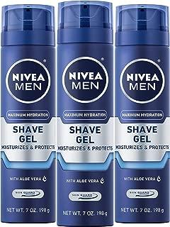 Nivea for Men Shaving Gel Moisturizing - 7 Ounce, 3 Pack