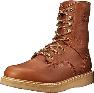 Boot Men's 8 Inch Wedge Work Shoe, Barracuda Gold, 8.5 W US