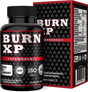 BURN XP - Thermogener Burner, von führenden Body-Experten entwickelt, mit Carnitin  Grüner Tee Extrakt, wissenschaftliche Formel, Made in Germany, 60 Kapseln