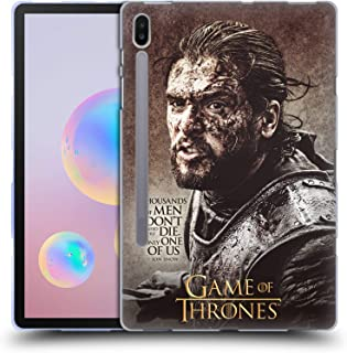 Official HBO Game of Thrones Jon Snow Quotes Soft Gel Case Compatible for Samsung Galaxy Tab S6 (2019)