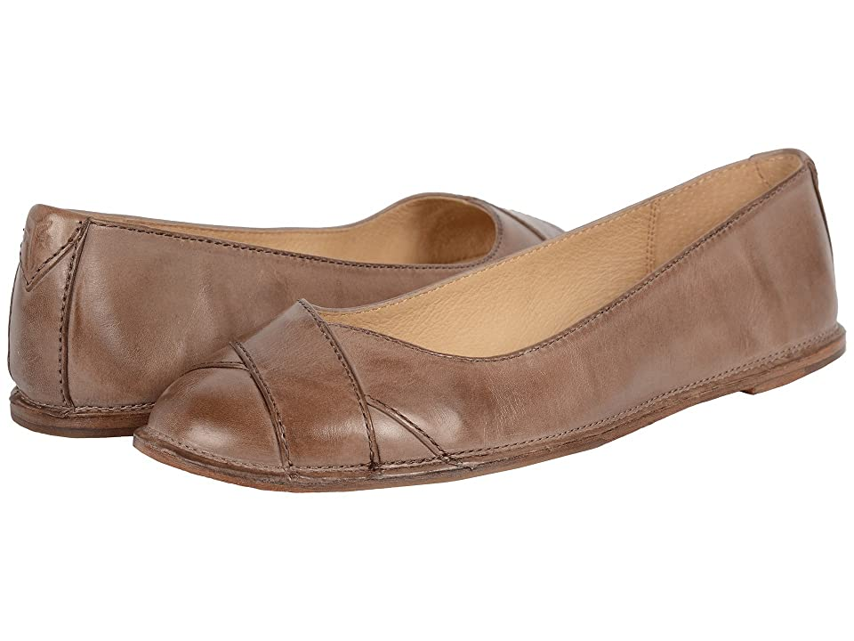 Frye Ember Cross Ballet (Grey Smooth Vintage Leather) Women