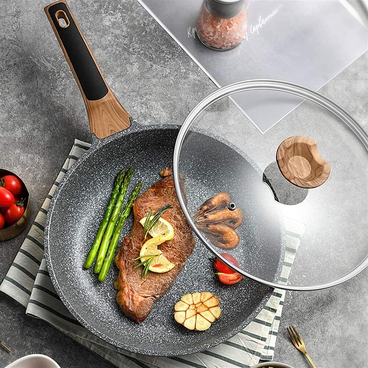 Wholesale Nonstick Pancake Griddle Pan Frying Be super welcome with Cooking Lid Wok