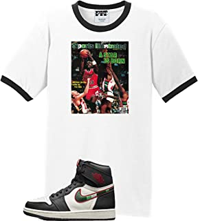 2dfb7a170c2 We Will Fit Shirt to Match Jordan 1 Retro High I OG Sports Illustrated  Black White