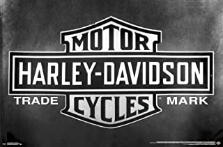 Trends International Harley-Davidson Motorcycles - Vintage Logo Wall Poster, 22.375