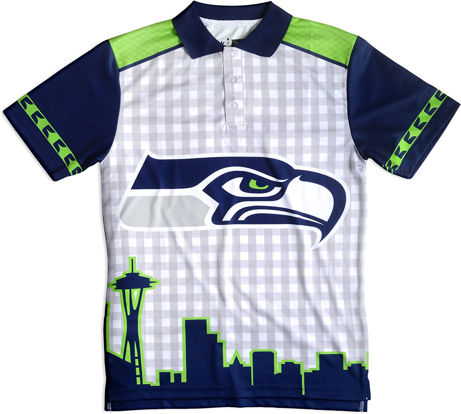 Seattle Seahawks Polyester Short Sleeve Thematic Polo Shirt Extra Large