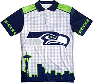 Seattle Seahawks Polyester Short Sleeve Thematic Polo Shirt Large
