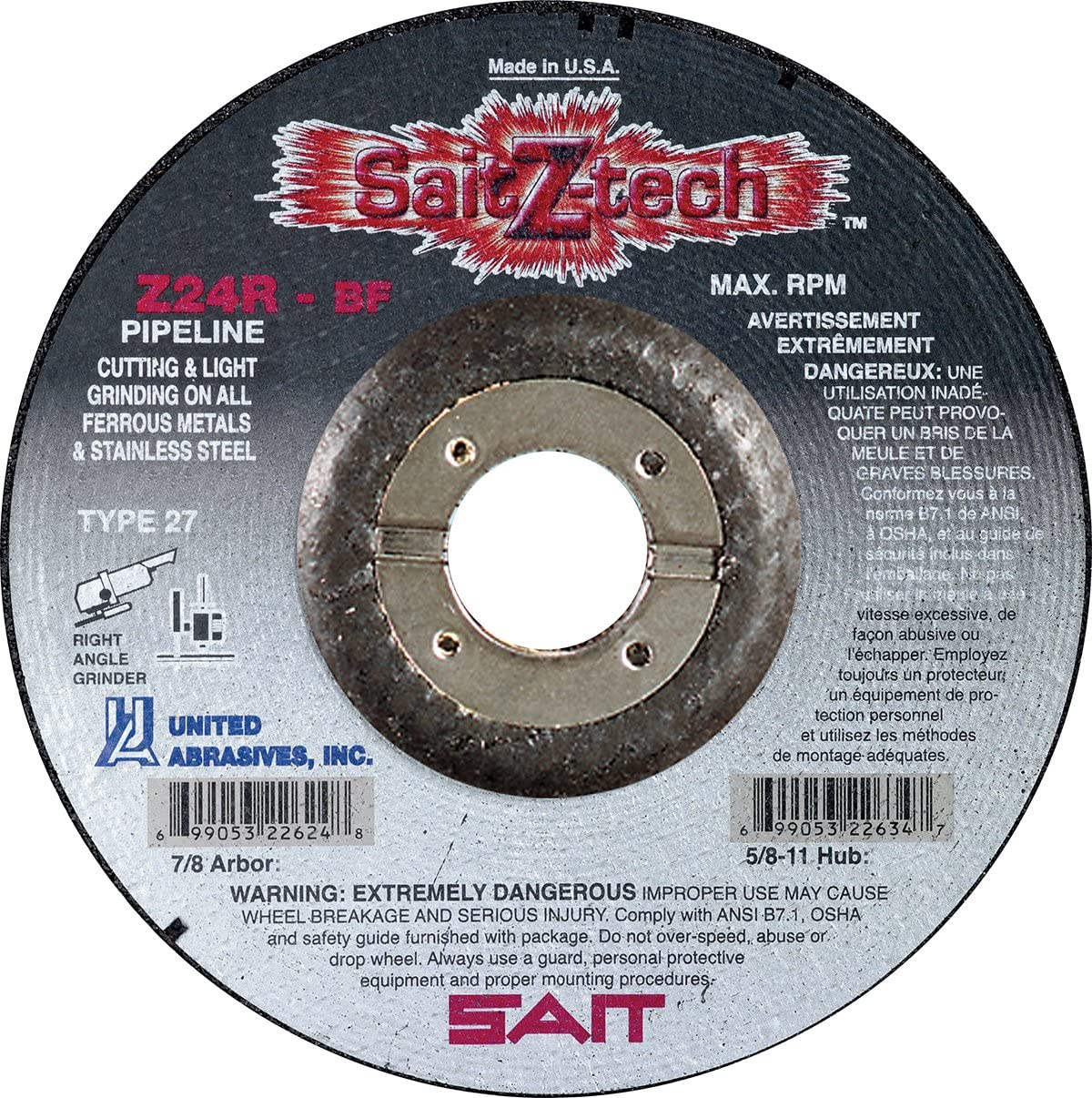 United Abrasives-SAIT 22623 All items in the store Type Excellent 27 6-Inch 7 8-In by 1 8-Inch