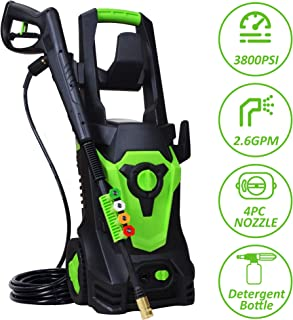 Aodern 3800 PSI 2.60 GPM Electric Pressure Washer, Electric Power Washer,4 Quick-Connect Spray Tips,Built-in Detergent Tank and Cleaning Needles with Extending and Retracting Handle