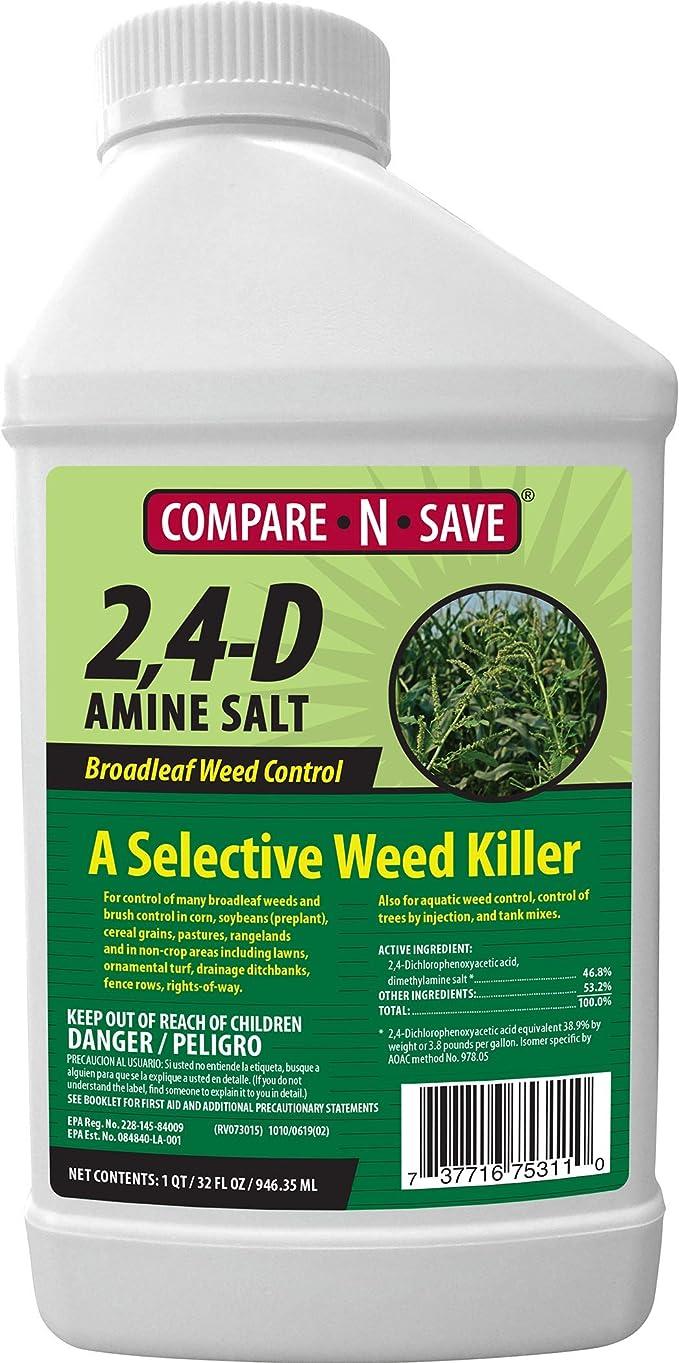 Compare-N-Save 2-4-D Amine Broadleaf Weed Killer, 32-Ounce