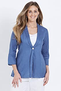 W.Lane Drape Linen Button Jacket - Womens
