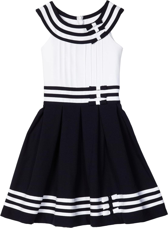 Bonnie Jean Big Girls' Nautical Dress with Tucked Bodice