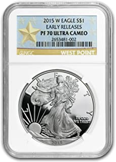 2015 W Proof Silver American Eagle PF-70 NGC (Early Release) 1 OZ PF-70 NGC