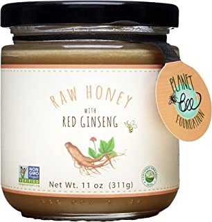 GREENBOW Raw Honey with Red Ginseng - Gluten Free, Non-GMO Raw Red Ginseng Honey - Highest Quality Whole Food Raw Red Gins...