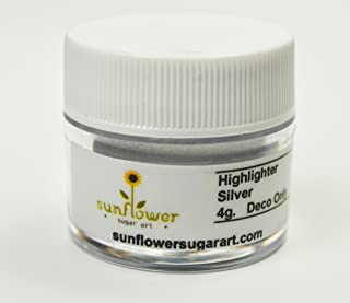 Silver Highlighter Dust, 4 gram container