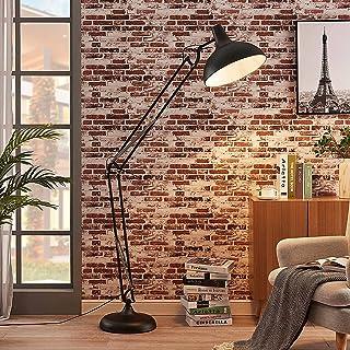 Lindby Lampadaire 'Giulie' (Modern, Industriel) en Noir en Métal e. a. pour Salon & Salle à manger (1 lampe,à E27) | Lampa...