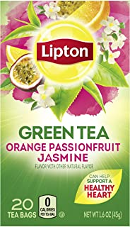 Lipton Green Tea Bags Flavored with Other Natural Flavors Orange Passionfruit Jasmine Can Help Support a Healthy Heart 1.1...