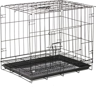 Honelife Foldable Pet Cage Cat Dog Crate Folding Guinea Pig Bunny Hedgehog Cage with Tray for Small Animals