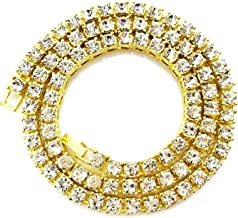 Best mens gold diamond tennis chain Reviews