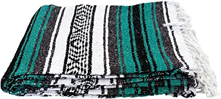 Traditionnel Authentique mexicaine Falsa Couverture Handmade Recyclé Festival Throw