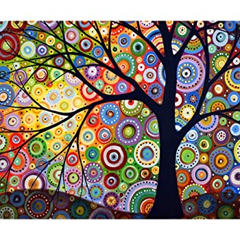Drill DIY 5D Diamond Painting Colored Tree Home Decor Embroidery Cross Stitch