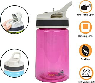 AceCamp TRITAN Portable Water Bottle for Kids, Toddlers, Adults, Odor & BPA-Free Leakproof Plastic Water Bottle, Hiking, Camping, School, Outdoors (12oz/20oz/27oz)