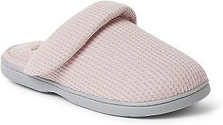 Dearfoams Women's Eleanor Waffle Knit Scuff Slipper