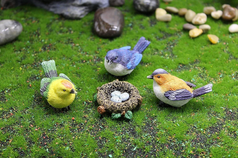 Miniature Be super welcome Bird Decorative Figurines Cheap bargain 4 Bir Resin Mini Pcs Animals