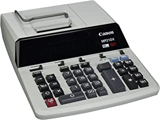 """Canon CNMMP21DX Color Printing Calculator, AC Supply Powered, 3.7"""" x 9"""" x 12.2"""", White, 1 Each"""