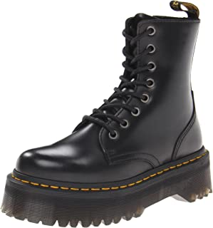 Unisex Adults Dr Martens Jadon Black Chunky Smooth Polished Leather Boot