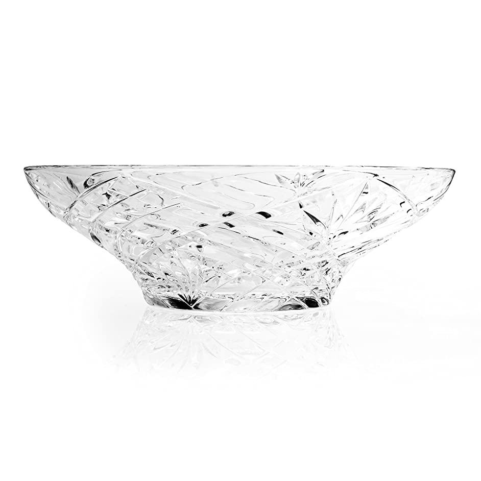RCR Melodia Crystal Glass Decorative Centrepiece Fruit Bowl, 10''